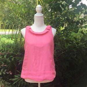 J CREW Pink Silk Sleeveless Blouse Women's 8